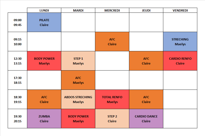 Planning Cours ADN Gym 20210902